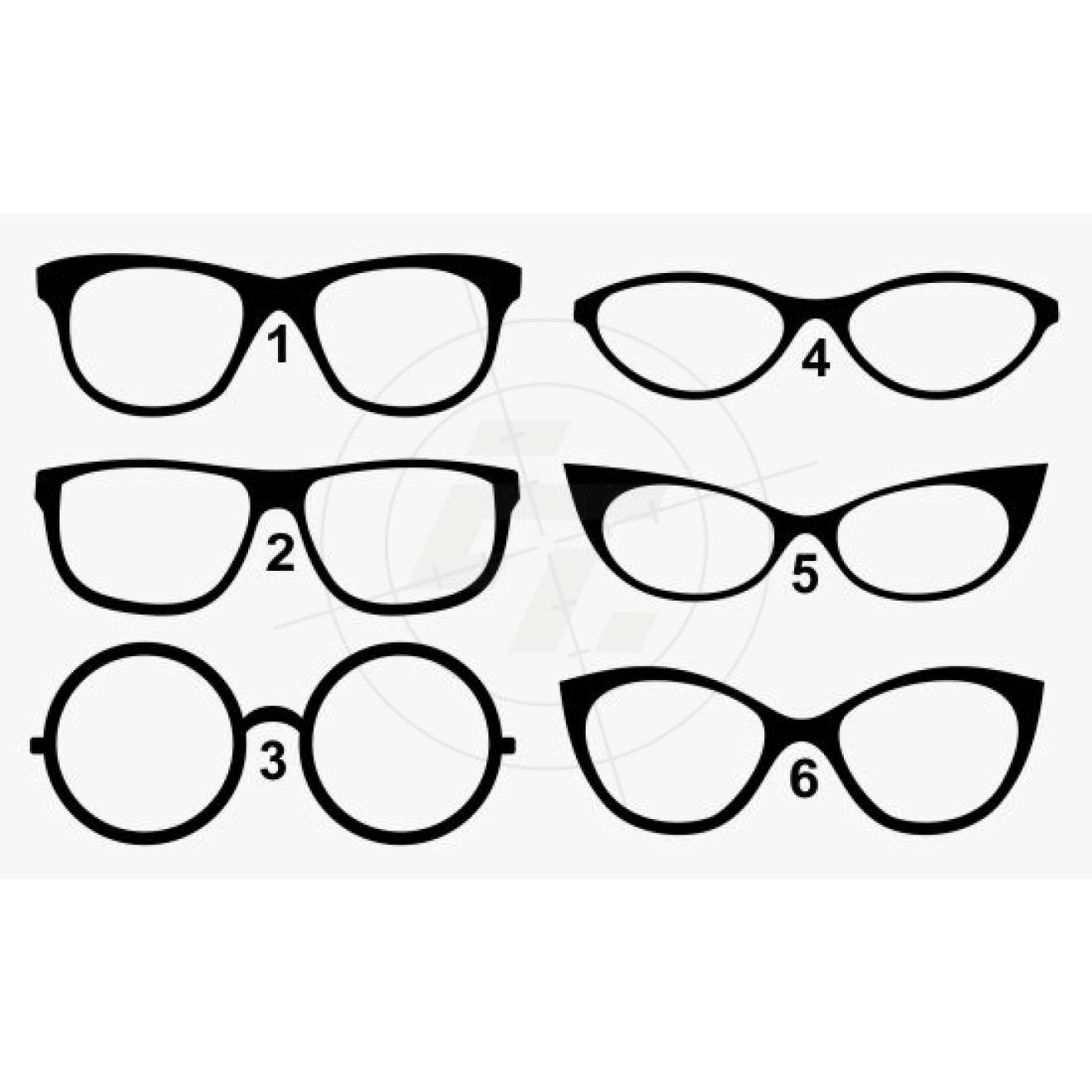 aufkleber brillenformen brillengestelle damen und herren schaufensteraufkleber und. Black Bedroom Furniture Sets. Home Design Ideas