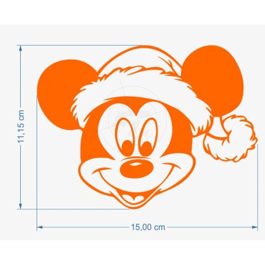 3d8e7b73c9f68 Mickey Mouse with Santa Hat