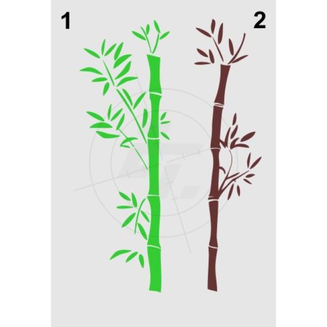 bambus bambusrohr mit bl ttern schaufensteraufkleber. Black Bedroom Furniture Sets. Home Design Ideas