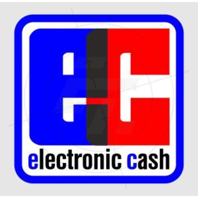 Aufkleber Electronic Cash