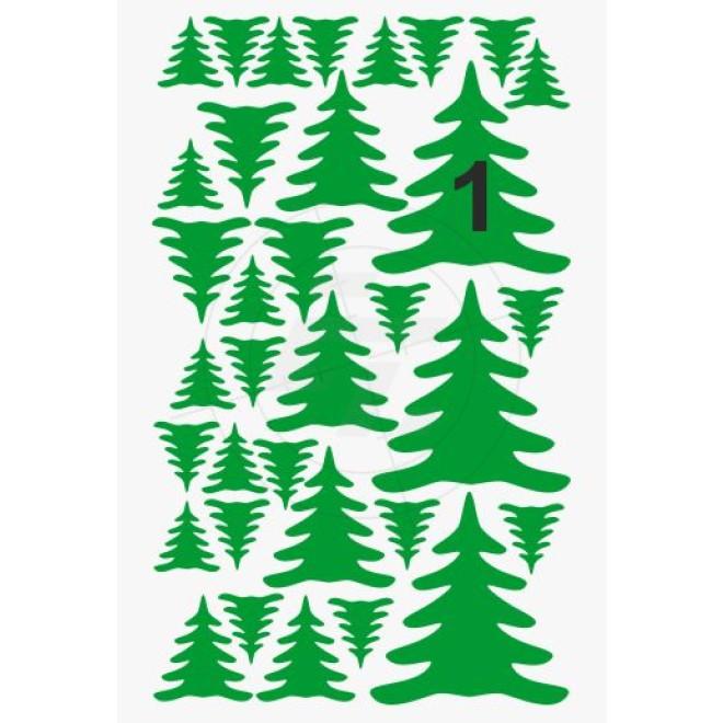 weihnachtsbaum tannenbaum aufkleber set. Black Bedroom Furniture Sets. Home Design Ideas