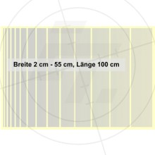 Foil strips 1m in length