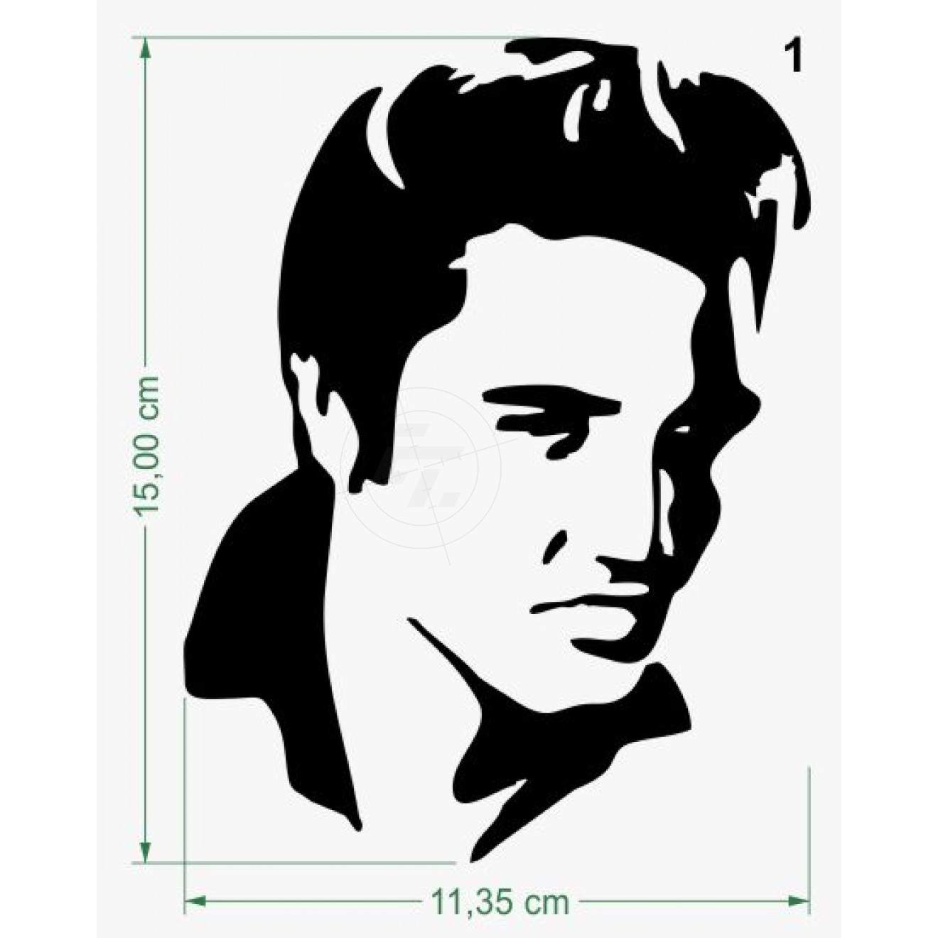 Sticker Elvis Presley Head Silhouette on elvis presley logo clip art